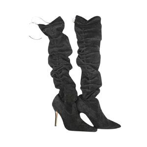 Manolo Blahnik Gipsy Suede Black 27mba614 Boots